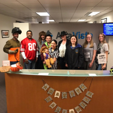 The 2019 Halloween party in the Sacramento office.