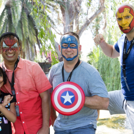 AV-ators and their families get bold with face paint at the annual company picnic