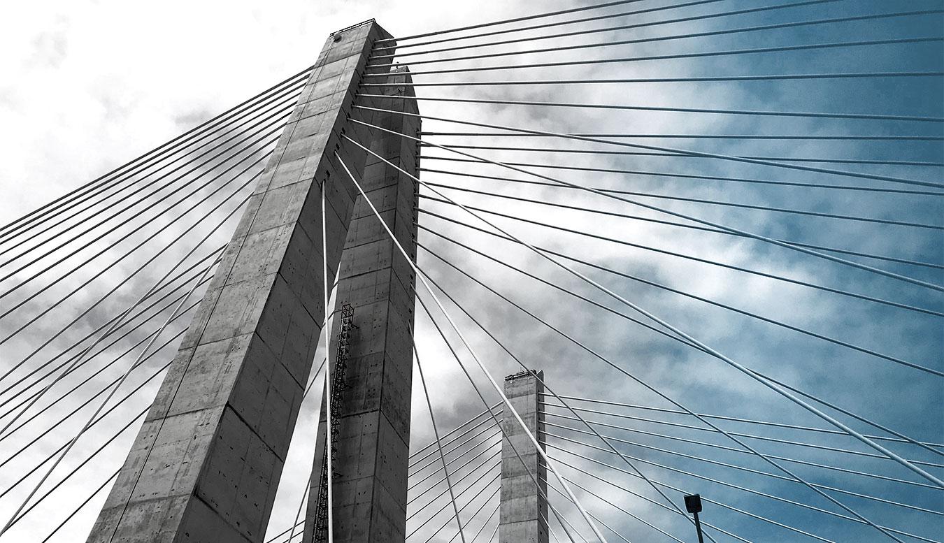 Main span of the New NY Tappan Zee Bridge